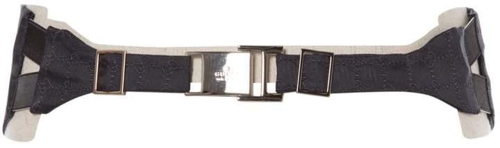 Gucci Navy Silk Belts