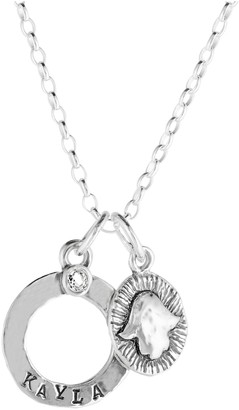 Or Paz Sterling Personalized Gemstone Hamsa Pendant