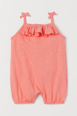 H&M Slub Jersey Romper Suit - Orange