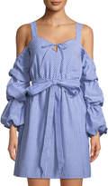 Alexia Admor Sweetheart Cold-Shoulder Ruffle-Sleeve Dress