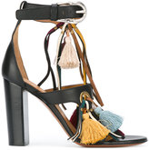 Chloé Miki fringed sandals - women - Leather/Cotton - 36