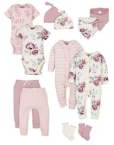 Gerber Modern Moments By Modern Moments by Baby Girl Baby Shower Layette Gift Set, 12pc