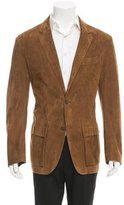 Ralph Lauren Purple Label Suede Two-Button Blazer
