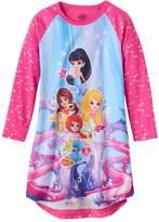 Intimo Girls 4-12 Splashlings Raglan Nightgown