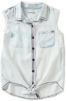 True Religion Big Girls 7-16 Tie-Front Frayed Sleeveless Top