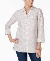 JM Collection Printed Hardware-Detail Shirt, Only at Macy's