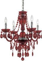 AF Lighting Red Naples Four-Bulb Chandelier