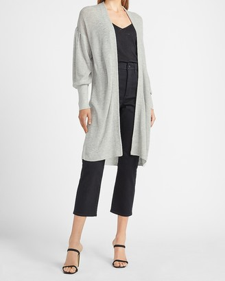 Express Long Puff Sleeve Cardigan
