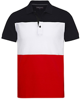 Tommy Hilfiger Kris Cotton Jersey Regular Fit Polo Shirt, Navy