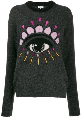 Kenzo eye embellished sweater