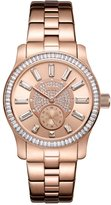 JBW Women's J6349D Celine 0.09 ctw 18k rose gold-plated stainless-steel Diamond Watch