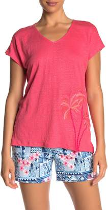 Tommy Bahama Palm Paradiso Embroidered Linen T-Shirt