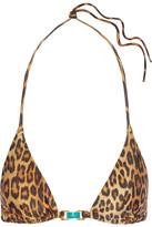 Vix Murad Leopard-print Triangle Bikini Top - Brown