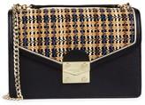 Karl Lagerfeld Paris Woven Plaid Flap Envelope Crossbody Bag
