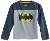 Toddler Boy DC Comics Batman Glow in the Dark Raglan Tee