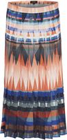 Oxford Bonnie Pleated Skirt Orange Multi X