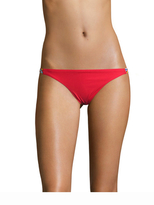 Red Carter Braided Side Classic Hipster Bikini Bottom