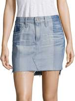 AG Adriano Goldschmied Women's Sandy Colorblock Denim Mini Skirt - Nineteen, Size 30 (8-10)