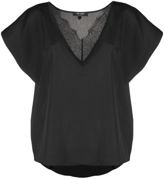 Twin-Set lace trim oversized T-shirt