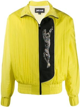 Just Cavalli Glitter Leopard Bomber Jacket