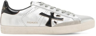 Premiata Steven Metallic Leather Sneakers