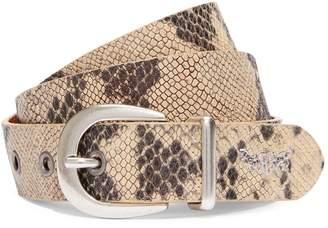 Levi's Medusa Embossed Leather Belt