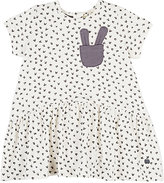 Bonnie Baby Rabbit-Print Cotton-Blend Dress