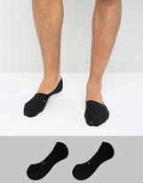 Tommy Hilfiger Classic No Show Socks In Black