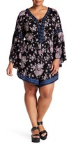Angie Bell Sleeve Print Romper (Plus Size)