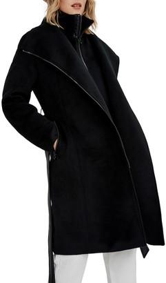 Noize Aiko Faux Wool Coat