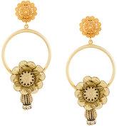 Dolce & Gabbana flower hoop clip-on earrings