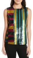 Diane von Furstenberg Women's Shimmer Sequin Front Shell