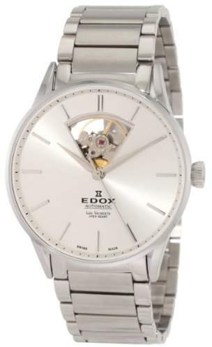 Edox Men's 85011 3B AIN Les Vauberts Automatic Dial Steel Bracelet Watch