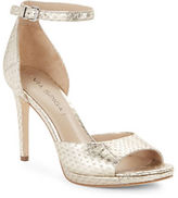 Via Spiga Salina 2 Embossed Leather Sandal Heels