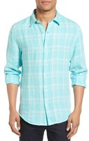 Bonobos Men's Slim Fit Plaid Linen Sport Shirt