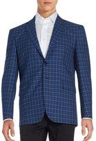 Saint Laurent Plaid Lana Wool Sportcoat
