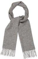 Saint Laurent Wool Fringe-Trimmed Scarf w/ Tags