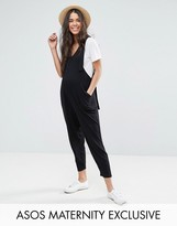 Asos Dungaree Jumpsuit With Strapping Detail
