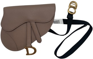 Christian Dior Saddle Beige Leather Clutch bags