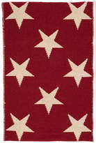 Dash & Albert Star Rug - Red / Ivory - 91x152cm