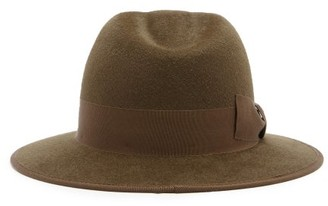 Gucci Ribbon-trimmed Fedora - Brown