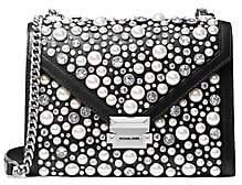 MICHAEL Michael Kors Women's Large Embellished Leather Shoulder Bag