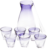 Global Views Decanter Caddy Glassware Set (8 PC)