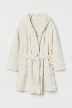 H&M Faux Shearling Bathrobe - White