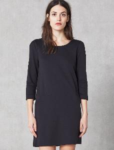 Elvine Black Elina Three Quarter Sleeves Dress - L - Black