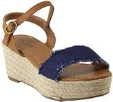 Blue Mally Espadrille Wedge Sandal