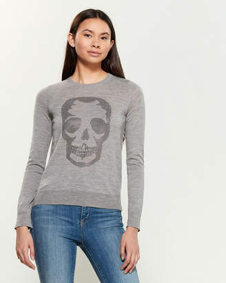 Zadig & Voltaire Miss Stud Skull Long Sleeve Sweater
