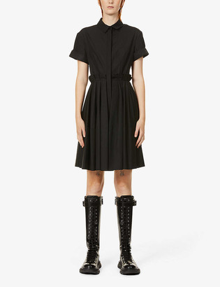 Alexander McQueen Pleated cotton mini dress