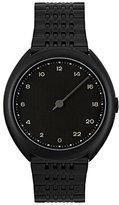 Slow O 03 - All Black Steel Unisex Quartz Watch with Black Dial Analogue Display and Black Stainless Steel Plated Bracelet