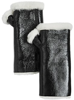 Yves Salomon Shearling Lined Fingerless Mittens